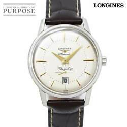 Longines Flagship Heritage L4 795 4 Mens Watch Date Ivory Characters Automatic F