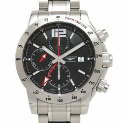 Longines Admiral Chronograph Gmt L3.670.4.56.6 Box Gallery Black Dimension Menand039s