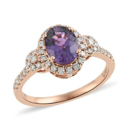 Iliana 18k Rose Gold Aaa Sapphire Diamond Ring Size 6 Ct 1.9 H Color Si1 Clarity