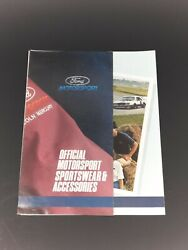 Vtg 1980and039s Official Ford Motorsport Sportswear And Accessories Brochure Catalog