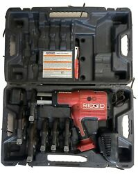 Ridgid Rp-330 Pressing Tool W/battery Charger 5 Jaws Carry Case Free Shipping