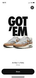 Nike Air Max 1 Patta Waves Monarch Size 12 Confirmed Order Ships When Received