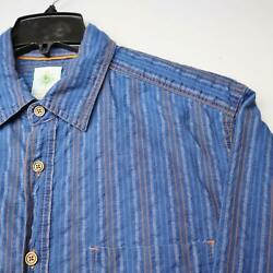 Mens The Territory Ahead Blue Tribal Button Down Shirt Size Large Tall Cotton