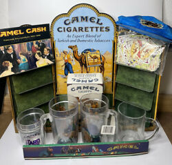 Vintage Camel Cigarettes Metal Tin Advertising Display With A Lot Of Extra Read
