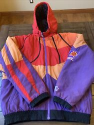 Vintage Nba Phoenix Suns All Over Print Starter Jacket With The Hood Size Large