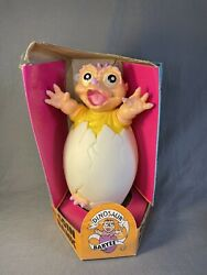 Vintage Dinosaur Baby Rubber Coin Bank 90s Sinclair Baybee Tv Street Kids Co.