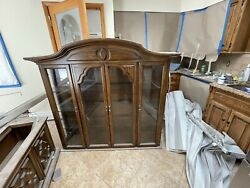 Antique Breakfront/china Closet With Bottom