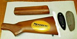 Mossberg 500 Wood Stock And Forearm 12 Gauge New For 6 3/4 Action Slide