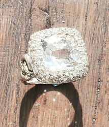 Fabulous John Hardy White Topaz And White Sapphire Ring Such Sparkle Nice