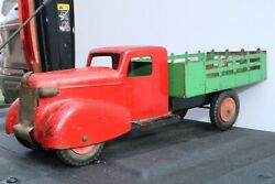 Wyandotte Toys Pressed Steel Farm Stake Truck - Made In Usa