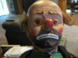 """Vintage 1950s Baby Barry Toy Co. Emmett Kelly Willie The Clown Doll 21"""" Rubber"""