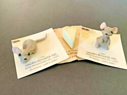 Vintage Hagen Renaker Mice Mouse And Cheese Lot Porcelain Ceramic 3 Pc