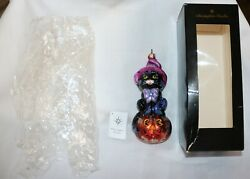Christopher Radko Spellbound 7 Glass Halloween Ornament In Box With Tag Ln Htf