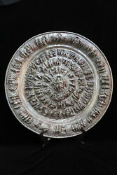 Monumental Poona Indian Silver Repousse 28 Exceptional Charger Tray