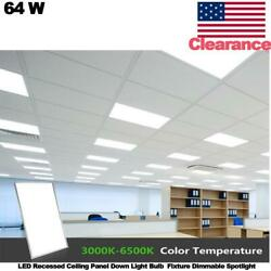64w Led Recessed Ceiling Panel Down Light Bulb Fixture Dimmable Spotlight