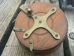 Antique Allcock And Co Wooden Reel 4 Inches