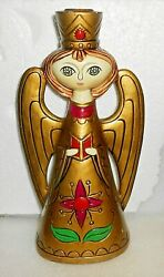 Vintage Mid Century 1960's Paper Mache Angel Candle Holder By Dickson Japan