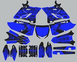 Blue Black decals for YAMAHA GRAPHICS YZ 250 YZ250 2015 2016 2017 2018 2019 2020