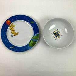 Letters From Felix Rabbit Plate And Bowl Set Annette Langden Thomas Germany Used