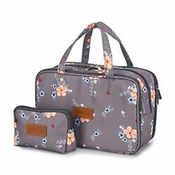 Travel Makeup Bag Toiletry Bags Large Cosmetic Cases for Women Girls Water re... $25.99