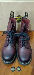 Dr Martens Pascal Womenand039s Cherry Red Antique Temp Boots Size 6 21154600