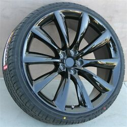 Set4 22 22x9/22x10 5x120 Wheels And Tires Package Tesla Model X Turbine Style