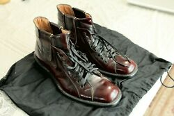 Prada Men#x27;s Leather Chelsea Boots Size 9.5 Burgundy Leather soles very rare $229.00