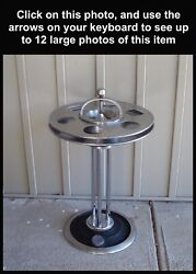 Union Pacific Railroad Art Deco Lounge/observation Car Drink Stand Ashtray Uprr