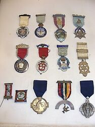 Antique Masonic Silver Jewels Medals Collection