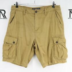 Mens American Eagle Outfitters Classic Fit Brown Cargo Shorts Size 36 Casual