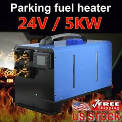 Diesel Air Heater All In One 24v 5kw Lcd Monitor For Cars Trucks Boats Bus Rvs