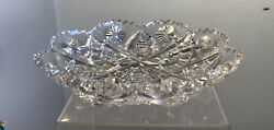 Antique American Brilliant Period Abp Glass Tray Signed Libbey Kenmore Pattern