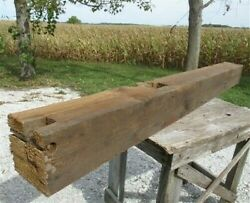 Reclaimed Barn Beam Wood Float Shelf, Architectural Salvage Fireplace Mantel A2,