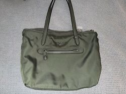 Army Green Coach Tote Bag Medium Sized with outside and inside pockets $127.00