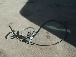 Teleflex 15and039 Steering Assembly Cable Wheel Outboard Boat Set Up