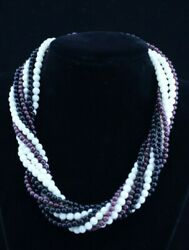 And Co. Paloma Picasso 18k Gold Amethyst White Coral Bead Necklace 16 Inc