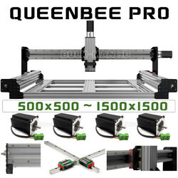 Queenbee Pro Cnc Router Machine 4 Axis Hgr Linear Rail Upgrade Mechanical Kit