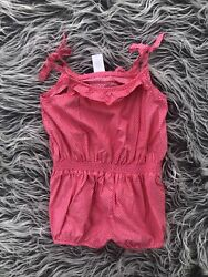 Janie And Jack Pink Polka Dot Baby Romper 18-24 Months Shirts Ties