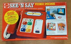 Vintage Mattel See And039n Say Video Phone Interactive Learning System Nib Sealed
