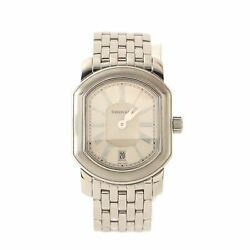 And Co. Mark Coupe Resonator Date Quartz Watch Stainless Steel 24