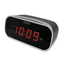 Timex Alarm Clock With 0.7-inch Red Display In Black Bedroom Office Home Decor