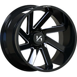 4 - 20x10 Black Milled Arkon Off-road Lincoln 8x180 -25 Directional Wheels
