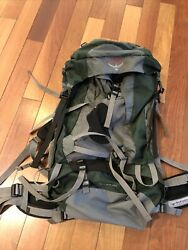 Osprey Aether 70 Size M 18-21 In Forest Green Hiking Backpack