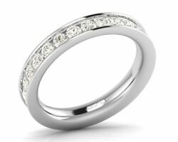 2.0 Cts Channel Set Round Brilliant Diamonds Full Eternity Ring In 950 Platinum