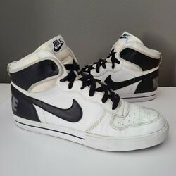 Nike Big High Ac Dunks High Top Shoes 2012 White Black 477103-101 Menand039s Size 13