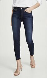 Womens 7 For All Mankind B Air Denim The Ankle Skinny Blue Stretch Jeans Size 27