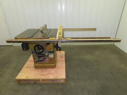 Powermatic Model 66 Table Saw 10 Tilting Arbor 3 Phase 5 Hp 240/480v 52 Fence