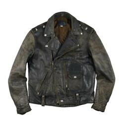 Buco J-24 Riders Jacket Horsehide Leather Black Menand039s Size 40 50s Vintage Used