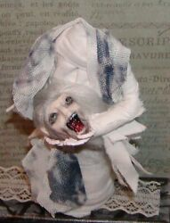 Dollhouse Miniatures Halloween Screaming Ghost And Zombie- Special Order For Laoro