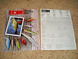Very Rare Pre Rapala 1978 Storm Catalog And Color Guide + Product-price List